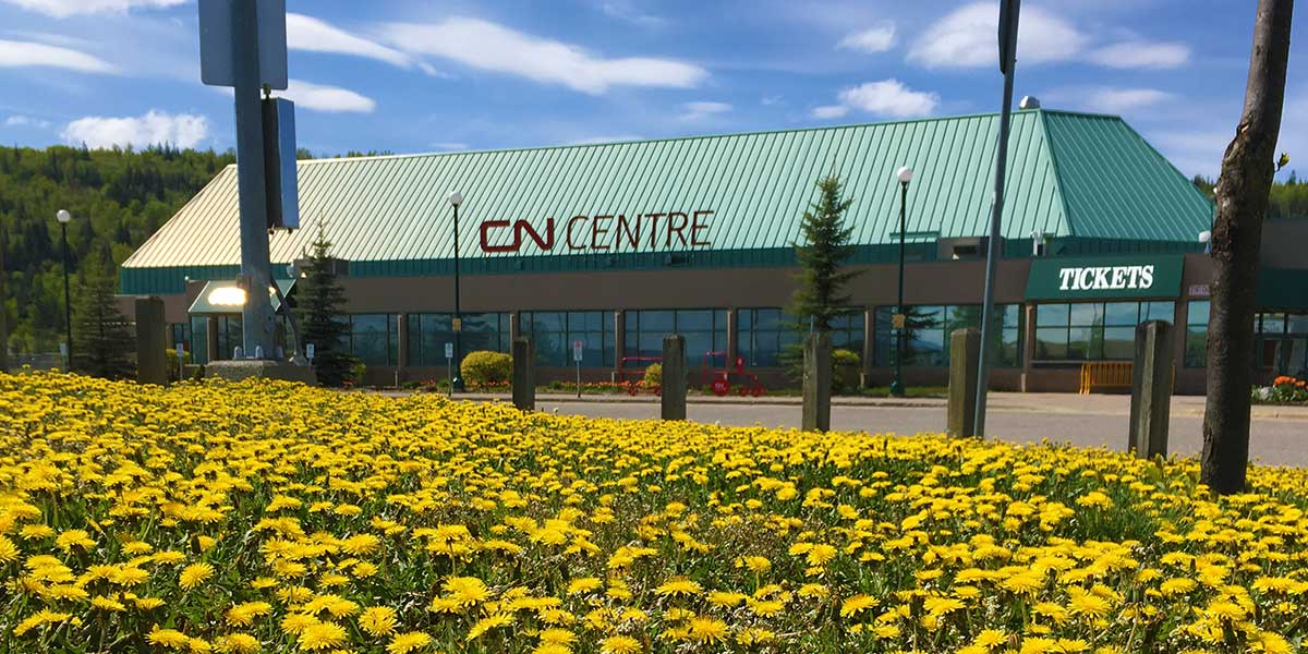 An exterior shot of the CN Centre.