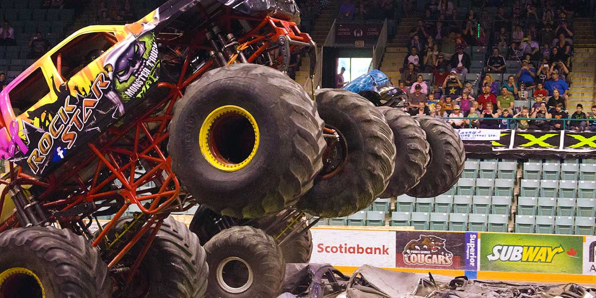 Monster truck show at the CN Centre.