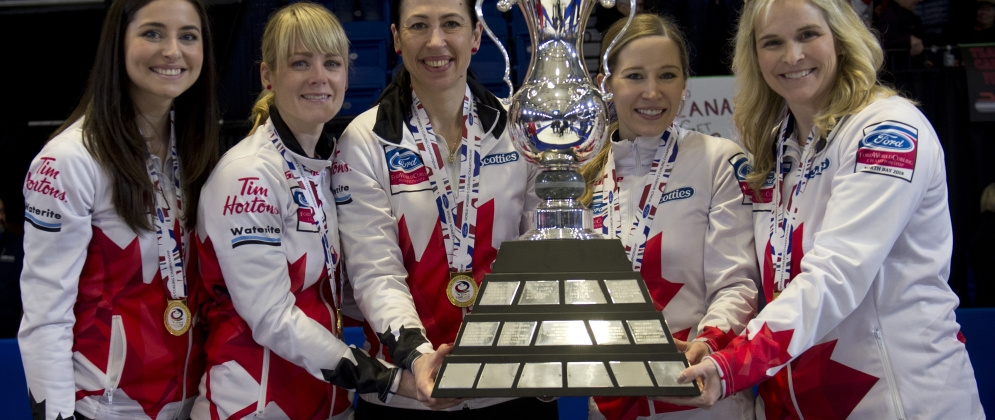 Canadian women's gold medalists